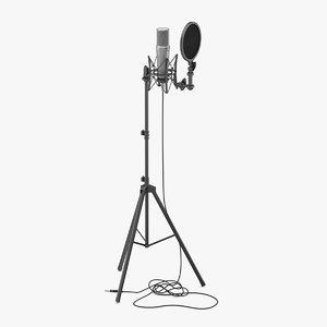 3D microphone studio mic model