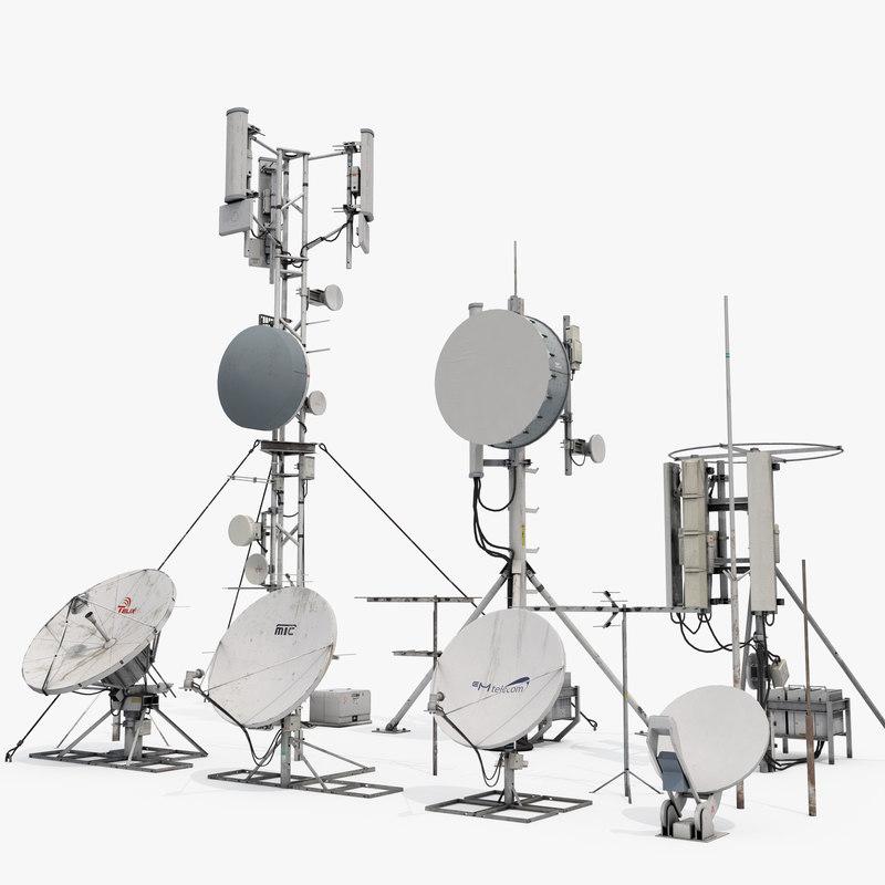 3D towers antennas model