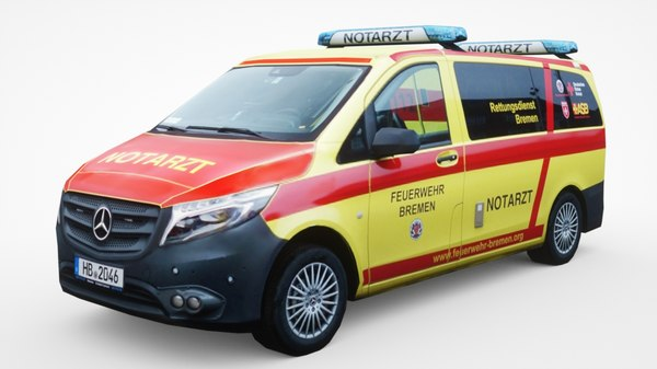 3D model mercedes-benz paramedics