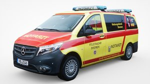 3D model mercedes-benz paramedics
