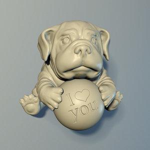 bulldog puppy 3D model