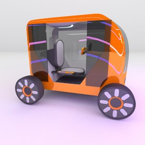 3D concept styled single commuter