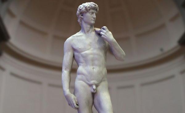 3D statue david michelangelo -