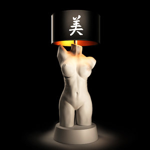 3D lamp female torso model
