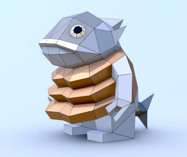3D fish maguro senpai salmon
