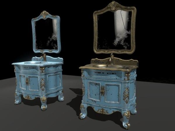 bathroom vanity furniture table 3D model