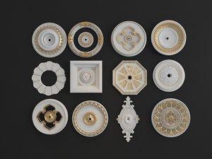 carved lamp disc 3D model