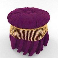 pouf violet 3D model