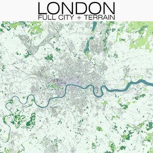 london city terrain model
