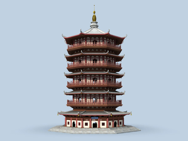 3D chinese tower model