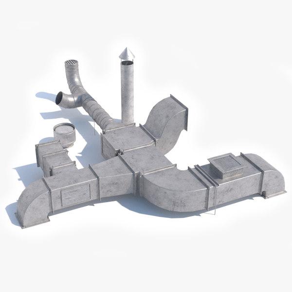 3D air duct model