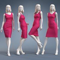 dress cloth mannequin 3D model