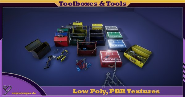 3D pbr toolboxes tools model