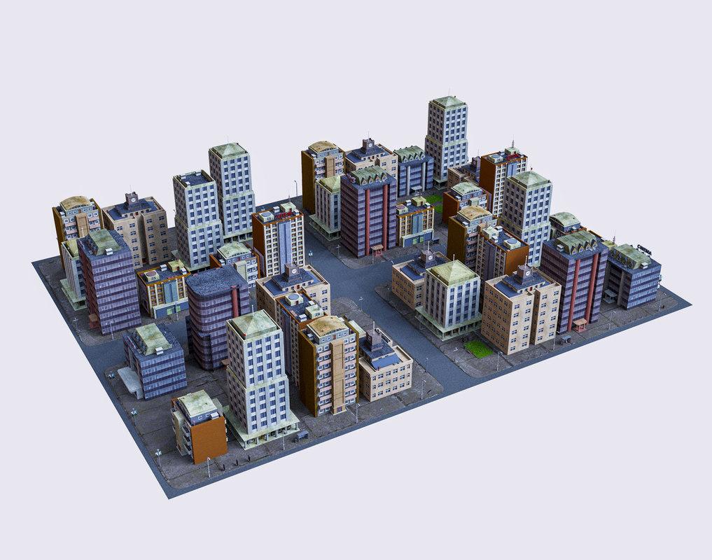 city 1 3D model
