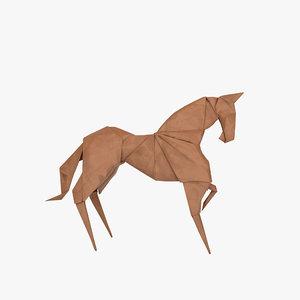 3D model origami horse