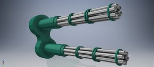 3D rotor canon double