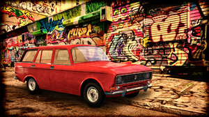 3D car 2137 moskvich