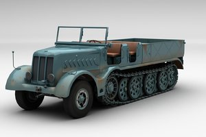 3D sd kfz 9 famo