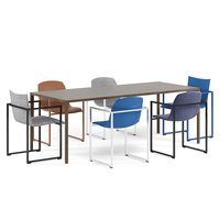 arco frame chairs slim 3D model