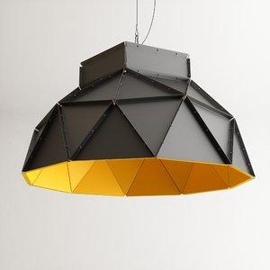 3D model dark apollo pendant lamp