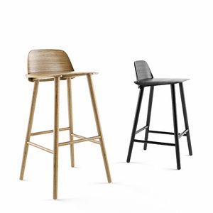 3D model muuto nerd counter stool bar