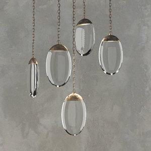 ochre celestial pebble pendant model