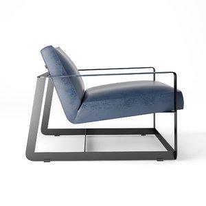 3D model poliform gaston armchair