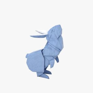 origami rabbit model