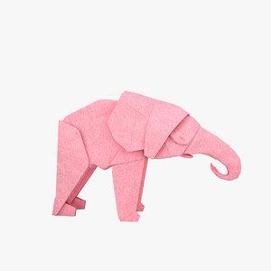 origami elephant 3D model
