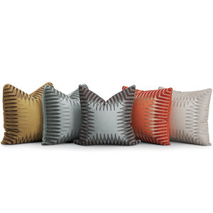 decorative cushions set 1 3D model