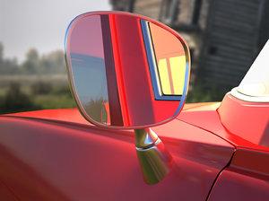 3D mirror retro car model