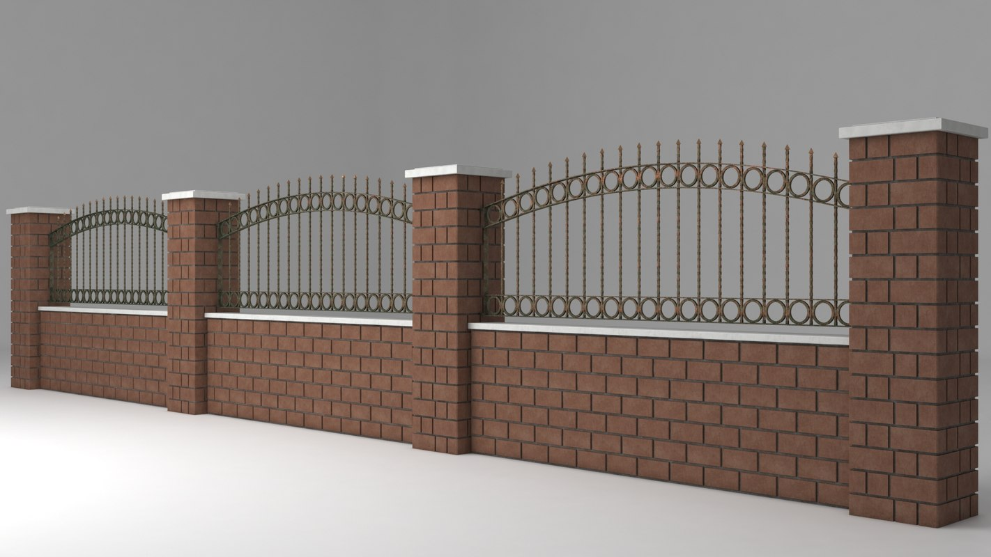 garden wall wrought iron model