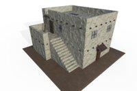 3D adobe house model