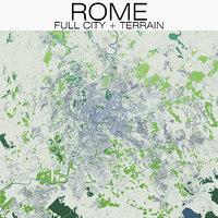 3D rome city terrain model