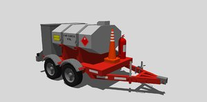 gas trailer 970l 3D model
