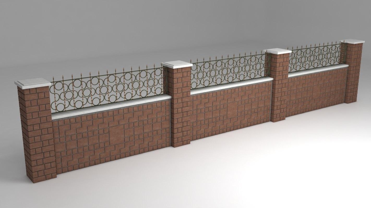 3D garden wall wrought iron