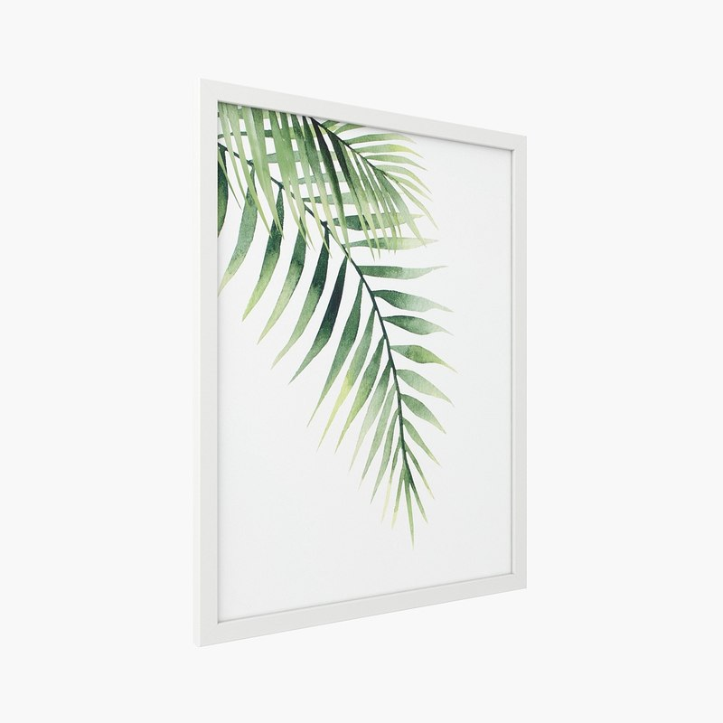 crate barrel - palm leaves 3D