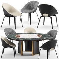 3D model tanya chair jason table