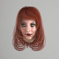 female hair 3 colors model