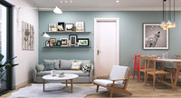 apartment livingroom living 3D model