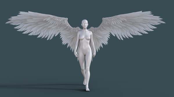 3D model angel wing