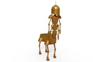 robot centaur toy 3D