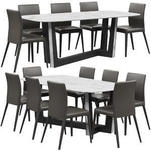 3D model bonaldo bel air chair