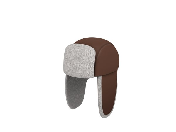 3D fur hat