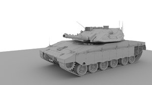 3D tank vehicle model