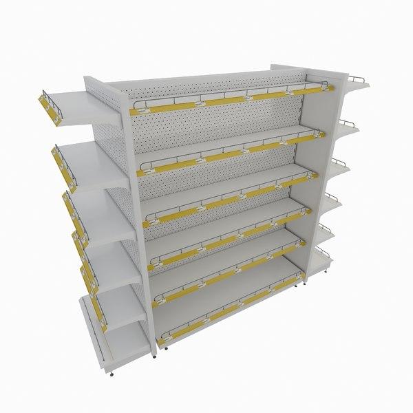 supermarket retail shelf model