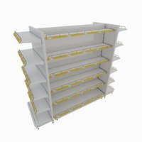 supermarket retail shelf model