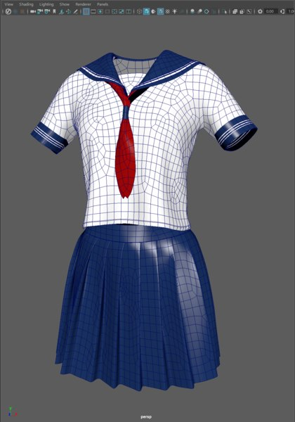 girl sailor suit marvelous 3D