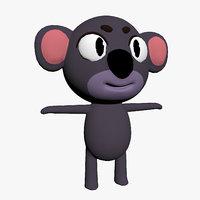 cartoon toon koala 3D model