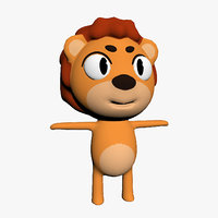 3D cartoon toon lion